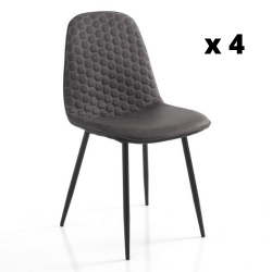 Chaise Gale Set de 4 | Gris