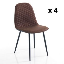 Dining Chair Gale Set of 4 | Brown