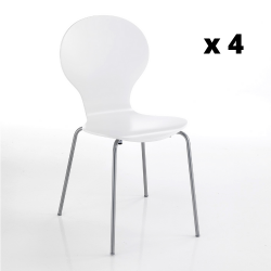 Chaise Baldi Set de 4 | Blanc