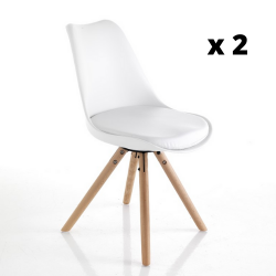 Dining Chair Kiki Set of 2 | White