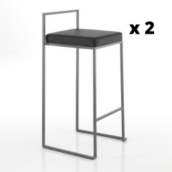 Bar Stool Dodo Set of 2 | Black