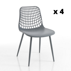 Chair In & Outdoor Nairobi Set of 4 | Grey