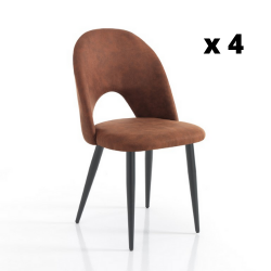 Dining Chair Nail Set of 4 | Brown
