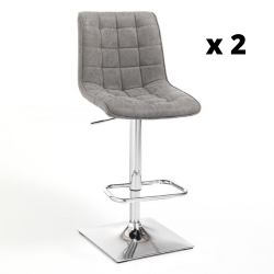 Bar Stool Lux Set of 2 | Grey