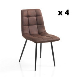 Dining Chair Toffee Set of 4 | Brown