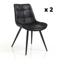 Chaise Buick Set de 2 | Noir