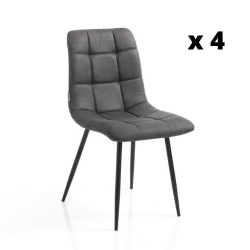 Dining Chair Toffee Set of 4 | Grey