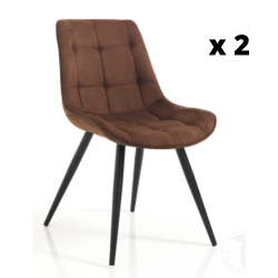 Dining Chair Buick Set of 2 | Brown