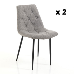 Chaise Cloud Set de 2 | Gris