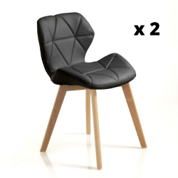 Chaise New Kemi-A Set de 2 | Noir