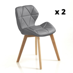 Chaise New Kemi-A Set de 2 | Gris