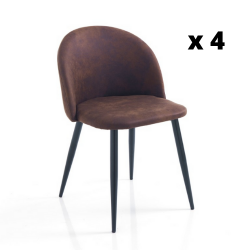Dining Chair New Kelly Set of 4 | Brown