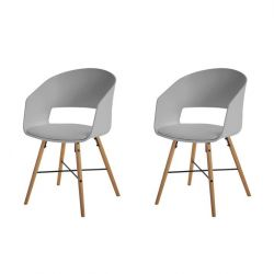Fauteuils Louis Set de 2 | Gris
