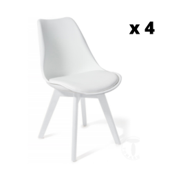 Dining Chair Kiki Evo Set of 4 | White