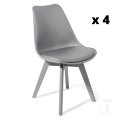 Dining Chair Kiki Evo Set of 4 | Grey