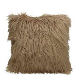 Fluffy Filled Cushion 45 x 45 cm | Beige
