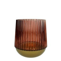 Glass Vase Small | Burgundy