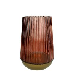 Glass Vase Large | Burgundy