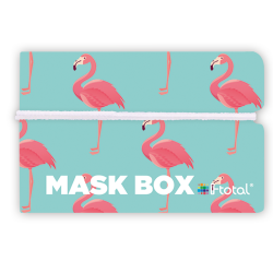 Gesichtsmasken-Box | Flamingo