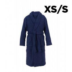 Bademantel Schalkragen XS/S | Navy