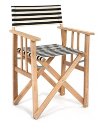 Director Chair Striped | Black / White