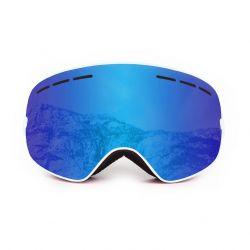 Schneebrille Cervino | Weißer Rahmen / Blaue Linsen