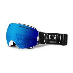 Snow Goggles Cervino Unisex | White Frame, Blue Lens