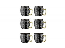 Tasse Cocktail Moscou 60 ml Set de 6 | Noir