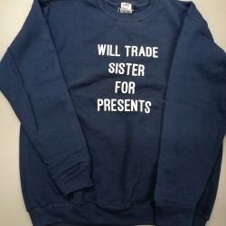 Kids Sweater Sister Presents | Blauw