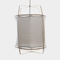 Hanging Lamp Z1 Black | Re-Used Cotton Cover