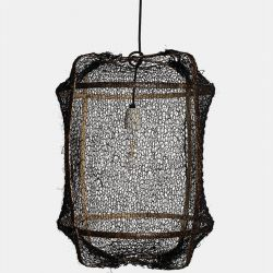 Hanging Lamp Z5 Black | Sisal Black Cover