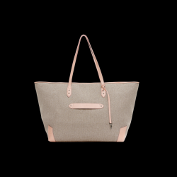Zanzibar Weekend Bag | Lurex Beige and Nude Leather