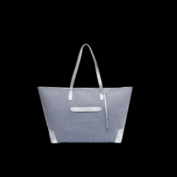 Zanzibar Weekend Bag | Lurex Ocean and Silver Leather