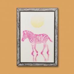 Art Print Zebra | Pink