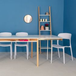 Zeen Extendable Dining Table with Shelf | White