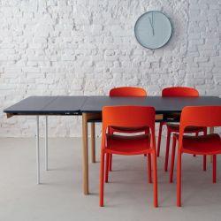 Zeen Table Extensible avec Etagère | Bleu