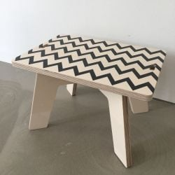 Stool | Wooden Bench Zick Zack