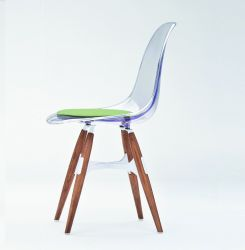 ZigZag Chair Transparent - Walnut legs