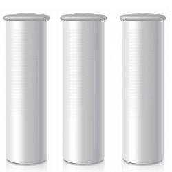Füllung Flusenrolle Metallic | Grau