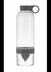 Drinking Bottle with Infuser CitrusZinger | Charcoal