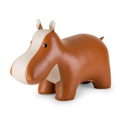 Hocker Hippo | Tan & Wheat