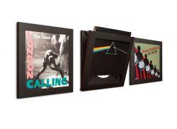 3er-Set Art Vinyl Flip Frames | Schwarz