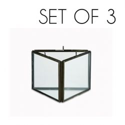 Danta Dreifachrahmen 3er-Set | Antik Schwarz