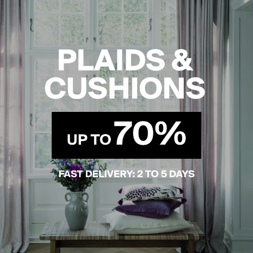 Plaids & Cushions | Up to 70%