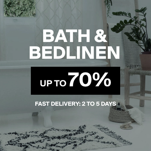 Bath & Bed Linen   Up to 70%