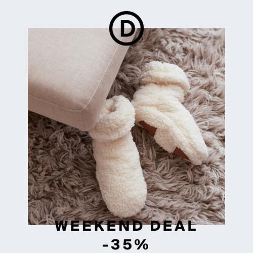 Wochenend-Deal | Kuschelige Hausschuhsocken & Plaids