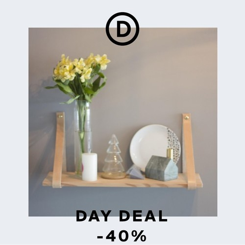 Deal of the day | Scandi style natural book shelf