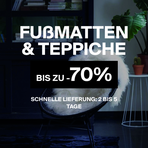 Fußmatten & Teppiche | Bis zu -70%