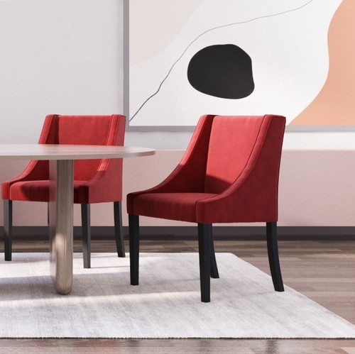 Designer Chairs | French velvet: fine dining chairs