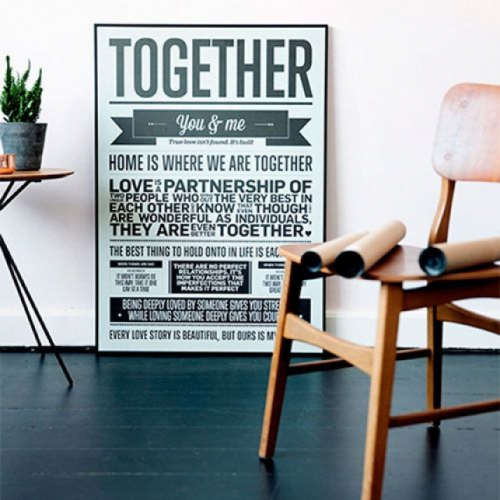 I Love My Type   Statement-Wand: Poster mit Charakter